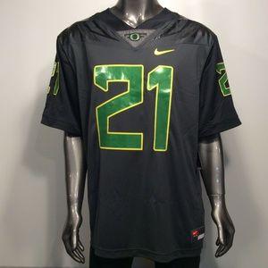 Oregon Ducks Nike #21 XXL Black Anthracite Jersey